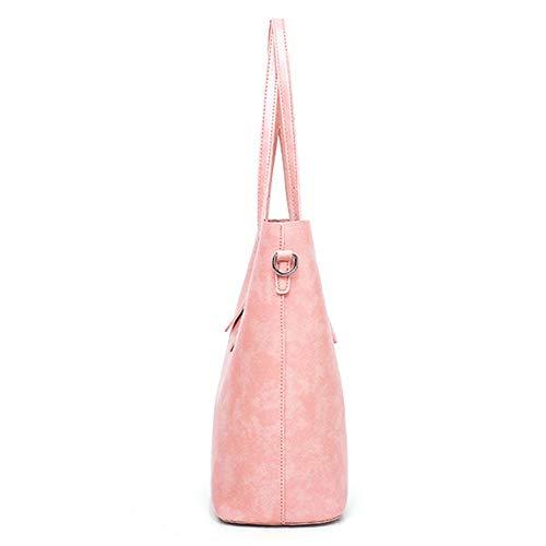 Del Bolso Las Bolsos Bolsa color Sintético Mano Mujer Pink 3pcs Mujeres Manera Hombro Red Totalizador Fijado Los Personalidad Chengzuoqing Cosméticos La Cuero De OCvwOpx