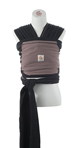 Ergobaby 4D Stretch Baby Wrap Carrier, Pepper