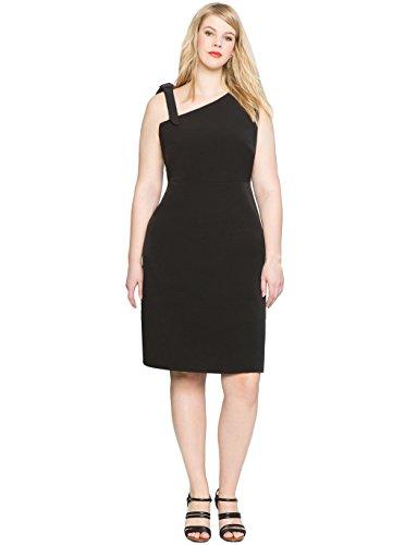one shoulder black tie dresses - 4