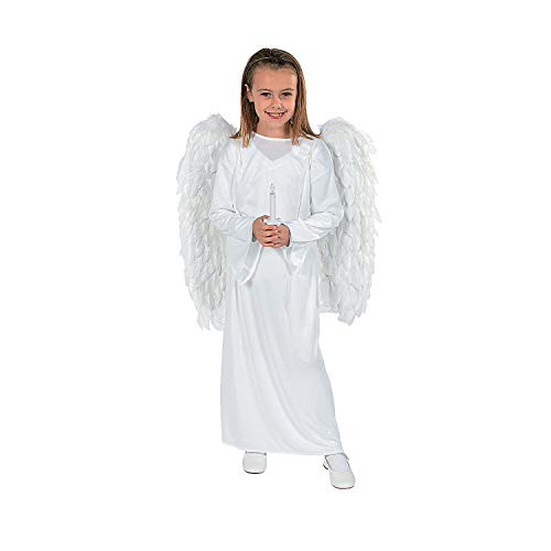 Fun Express - Child S/m Angel Costume with Candle for Christmas - Apparel Accessories - Costumes - Kids - Unisex Costumes - Christmas - 3 Pieces]()