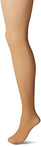 Hanes Silk Reflections Womens Perfect Nudes Micro Net Control Top Pantyhose  Caramel  Medium