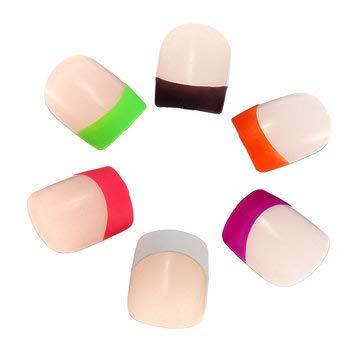 24PCS 3D French Neon False Nail Design Full Tips Design - Nail Art Nail Tips - (Orange) -