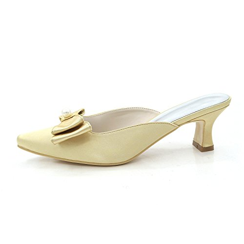 L@YC Women'S Shoes Low Heels High Heels / Night / Slippers Sandals Wedding Party Champagne bwNVy2CD