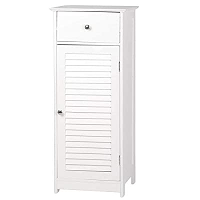 osea OSE FCH One Door & One Drawer Bathroom Cabinet White -  - shelves-cabinets, bathroom-fixtures-hardware, bathroom - 31w%2BkDQ5zaL. SS400  -