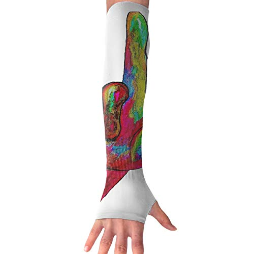 RZM YLY Unisex American Sign Language I Love You Arm Sleeves UV Sun Protective Multifunctional Tattoo Arm Gloves Long Sleeve Perfect for Driving (1 Pair)]()