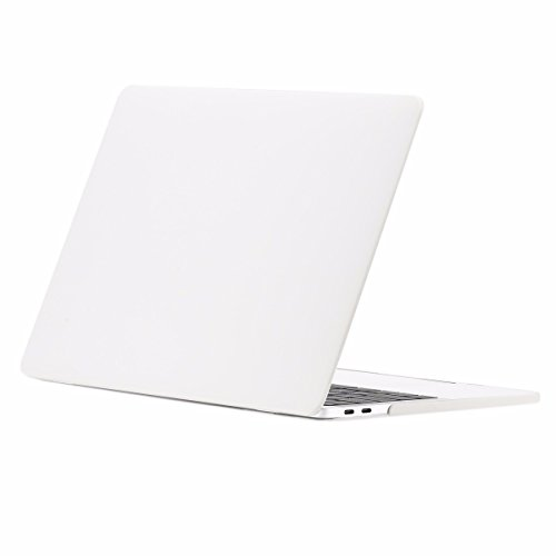 TOP CASE - Macbook Pro 13 Case Release 2017 & 2016, Rubberized Matte Hard Case Cover for MacBook Pro 13-inch A1706 with Touch Bar / A1708 without Touch Bar ( Release 2017 & 2016 ) - Satin White