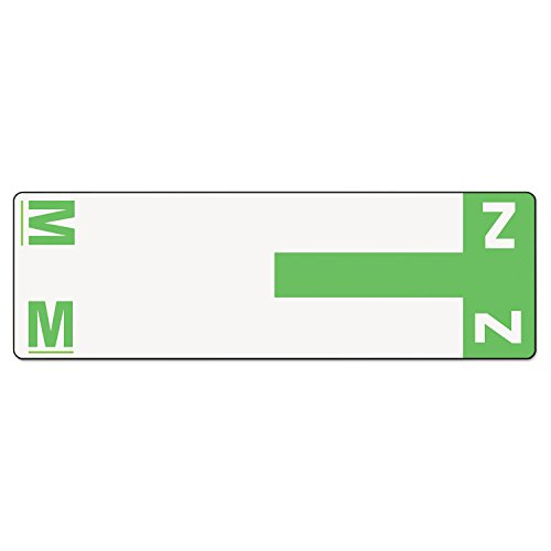 (Smead 67164 Alpha-Z Color-Coded First Letter Name Labels M & Z Light Green 100/Pack)