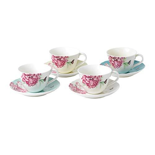 Royal Albert Everyday Friendship Teacup & Saucer Mixed Colors, Set of 4