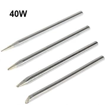 Herramienta de soldadura conjunto cabeza hierro soldador eléctrico sin plomo 4 W 40 W: Amazon.es: Bricolaje y herramientas