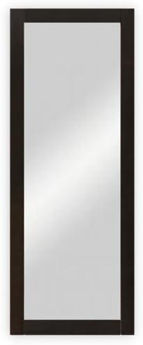 ca dreiBaum Wand- // Garderobenspiegel mit Holzrahmen 45 x 170 cm wengefarbig gebeizt
