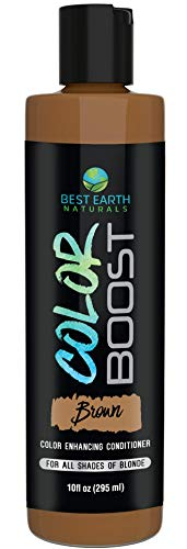 Color Boost Brown Color Depositing Conditioner for All Shades of Brown Hair Add Hair Color or Cover Gray Hair for Men and Women 10 Ounces