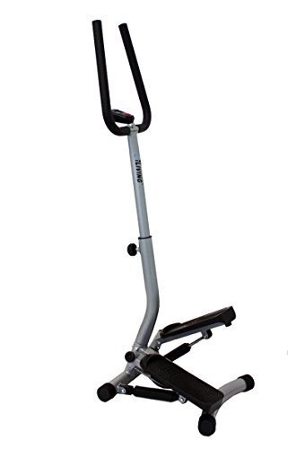 ILIVING USA Mini Twist Stepper with Handle Bars, Grey
