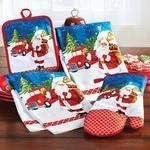 Shree 4-Piece Colorful Printed Santa Claus Kitchen Accessories Set