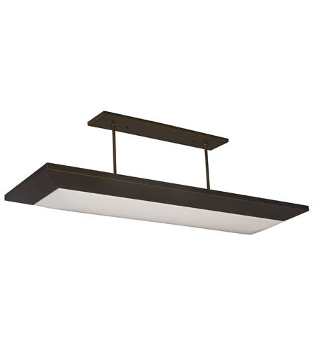 Lighting by AFX AEL432RBMV Aeon 22-Inch Multi-Volt Suspended Light Fixture, Oil-Rubbed Bronze Finish with White Linen Pattern -
