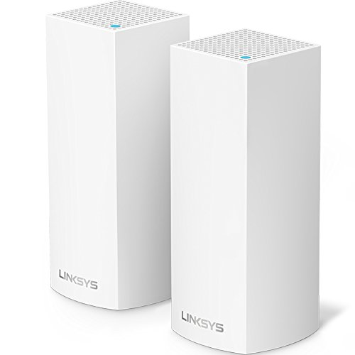 Linksys WHW0302 Velop Tri-band Whole Home WiFi Mesh System, 2-Pack (coverage up to 4000 sq. ft), Router Replacement for Home Network, Works with Amazon Alexa