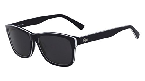 Lacoste L683sp Polarized Square Sunglasses, Blue/White/Blue, 55 - Polarized Sunglasses Lacoste