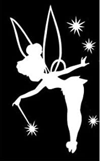 Tinkerbell Decal Vinyl Sticker|Cars Trucks Vans Walls Laptop| White |5.5 x 3