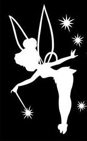 Tinkerbell Decal Vinyl Sticker|Cars Trucks Vans Walls Laptop| White |5.5 x 3 in|LLI298