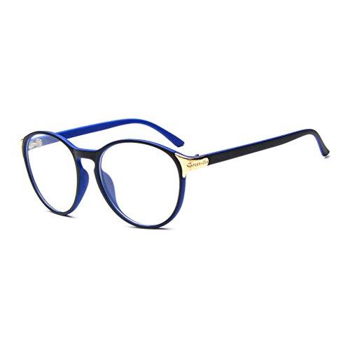 LOMOL Fashion Student Style Lightweight Transparent Lens Frame Large Glasses For Men&Women - India Half Rim Frames