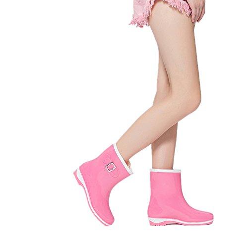 Xiuzhifuxie Mesdames Bottes de Pluie Noeud Papillon mi Tube étanche Chaussures Printemps Été XIcOsYxHq