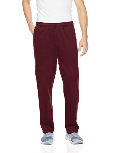 (Amazon Essentials Men's Fleece Sweatpants, Burgundy, X-Small)