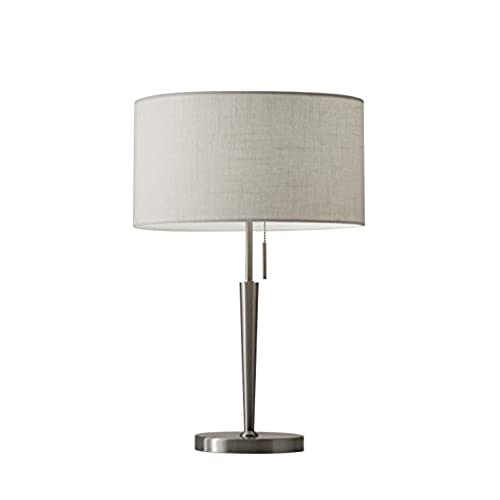 Adesso 3456 22 hayworth 22 table lamp satin steel smart outlet compatible