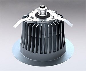 650 Lumens - 65W Equal - 12W LED - GU24 Base - Downlight - Fits 6 in. Can Light - Halogen Color - Cree LR6C-GU24