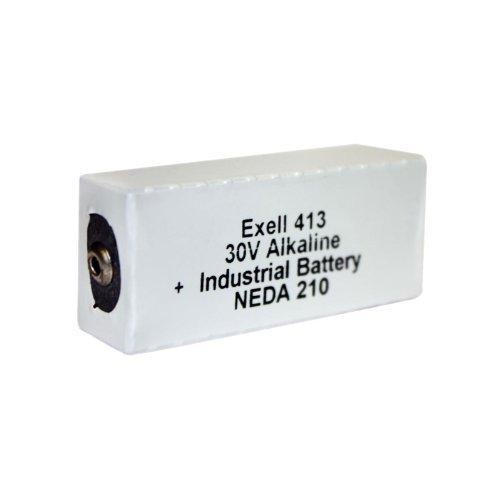 Vintage Transistor - Exell Battery 413A Alkaline 30V Battery NEDA 210, 20F20, BLR123 ER413, White/Silver