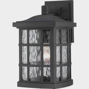 Quoizel SNN8408K Stonington 1-Light Outdoor Lantern, Mystic Black