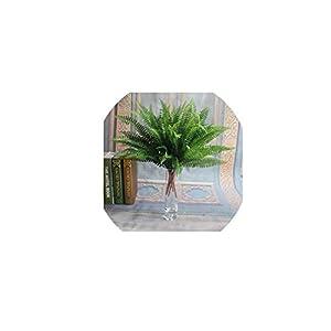 Brittany-Breanna 7 Branches Artificial Boston Fern Bouquet Plastic Artificial Silk Green Plants Fake Leaves Home Decoration 115