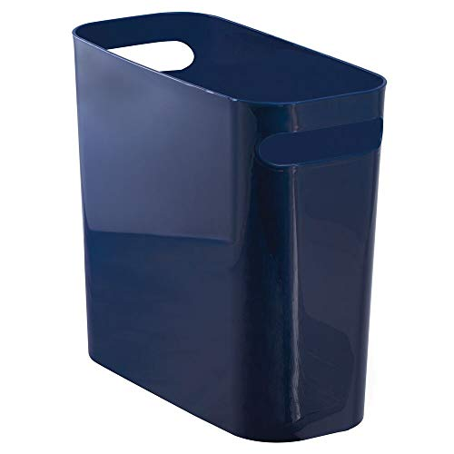 mDesign Slim Plastic Rectangular Small Trash Can