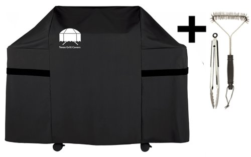 Texas Grill Covers 7553 Premium Cover for Weber Genesis E and S Series Gas Grills Including Brush and Tongs