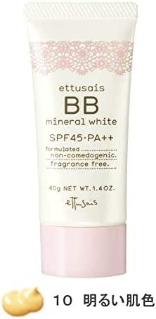 Ettusais BB Mineral White Cream No. 10 Bright Beige, 1 Ounce