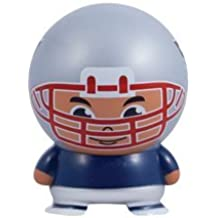 4 Pack Set of New England Patriots Buildable figures. NFL Football Mini Figurines with Logo 2.5 Inch - Kids Birthday Cake Toppers Boys Super Bowl Game Helmet Boston Party Favors Decoration Vend Toy .