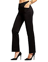 Premium Women's Stretch Dress Pants - Slim or Bootcut -...