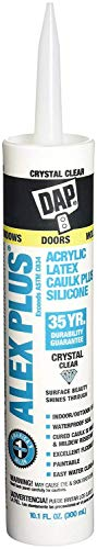 Dap 18401 Crystal Clear Alex Plus Acrylic Latex Caulk Plus...