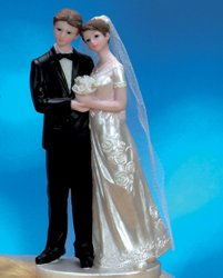 Wedding Couple Figurine with Vail Cake Topper Centerpiece