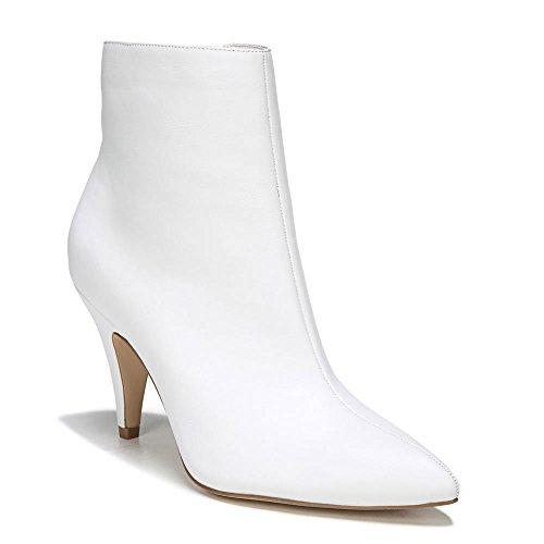 White Boots Heel (Carlos by Carlos Santana Women's Mandarin Ankle Boot, White, 8 Medium US)