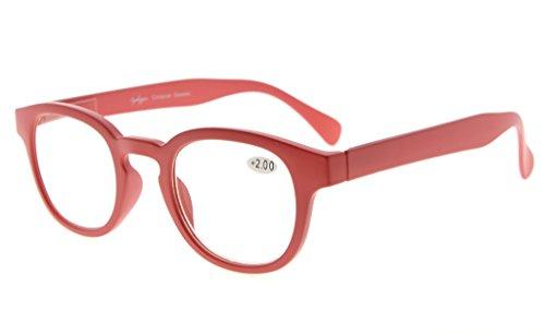 gafas iris marco de lectura mujeres espejo Rojo 2 50 Eyekepper lente Rojo arco q5YwXx4