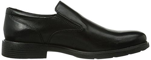 Geox U DUBLIN - Zapatos de cordones de cuero para hombre negro - Schwarz (BLACKC9999)