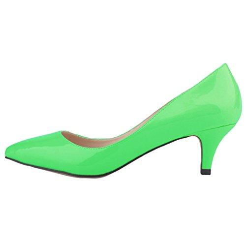 Moda de WanYang Zapatos Clasico Tac Bajo Mujer wBqvx0Z4z