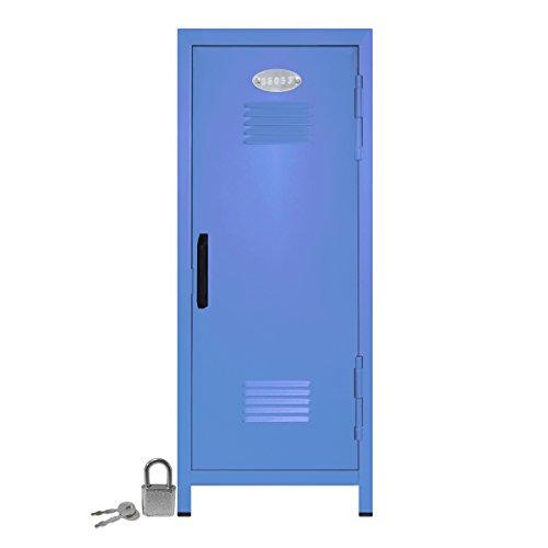 (Mini Locker with Lock and Key Pastel Blue -10.75