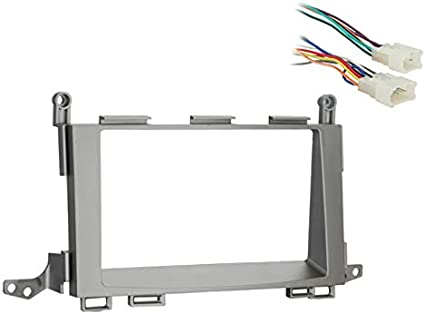 amazon.com: compatible with toyota venza 2009 2010 2011 2012 double din stereo  harness radio install dash kit package: car electronics  amazon.com