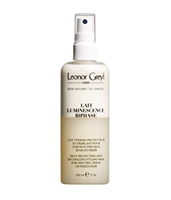 Leonor Greyl Paris Lait Luminiscence Bi-Phase- Detangling and Heat Protecting Spray for Dry and Thick Hair, 5.2 oz