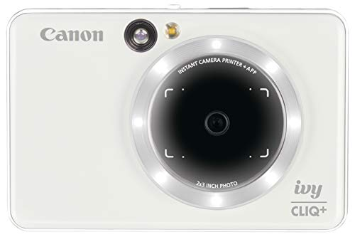 Canon IVY CLIQ+ Instant Camera Printer Mobile Mini Printer Via Bluetooth(R), Pearl White