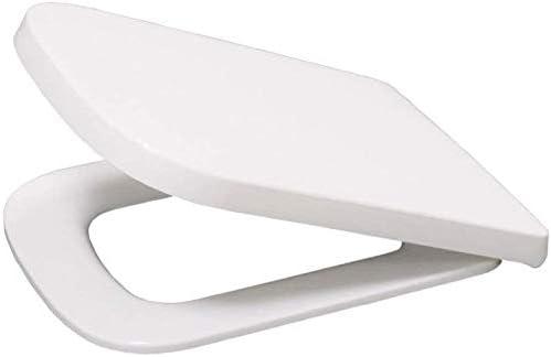 トイレのふた、正方形の互換性のある便座ドロップミュート抗菌調節可能なトップマウント超耐性トイレ蓋