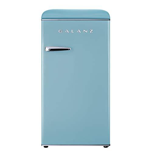 Galanz GLR33MBER10 Retro Refrigerator, 3.3 Cu Ft, Blue