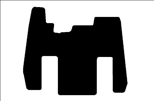 (Kenworth W900 AEROCAB (no wall Cab/Sleeper- Commercial Truck Custom fit Carpet Floor Mat 1 Piece Front (for years up to 2007) in Black, Beige, or Medium Dark Grey)