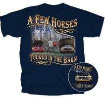 Ford Mustang A FEW HORSES Classic Car Adult T-shirt, Large