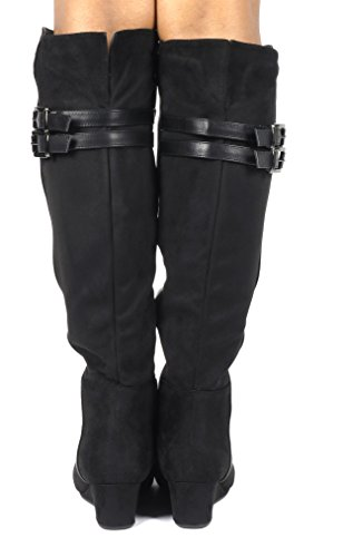 DREAM PAIRS Womens Over The Knee Thigh High Stretch Boots Bailee-black QejdqeKC